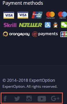Como entrar em contato com o suporte ExpertOption