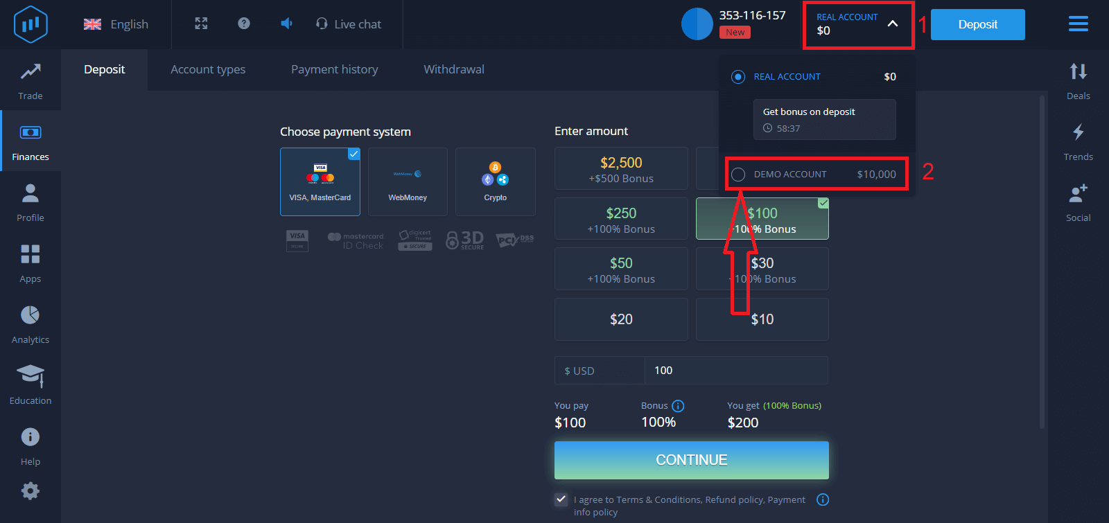 How to Open Account and Withdraw Money at ExpertOption